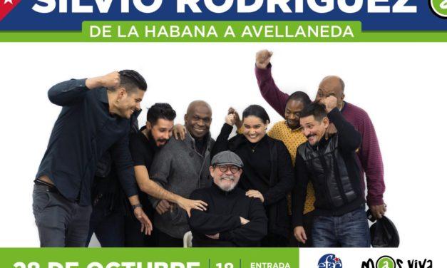 EL CUBANO SILVIO RODRIGUEZ DARA UN SHOW GRATUITO EN AVELLANEDA