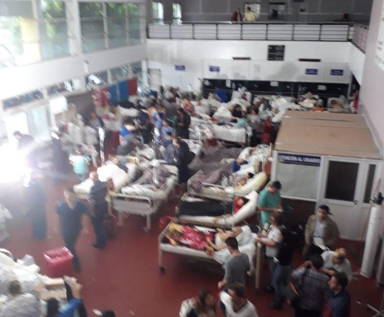 INCENDIO EN EL HOSPITAL OÑATIVIA DE RAFAEL CALZADA