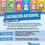 COMENZO LA CAMPAÑA ANTIGRIPAL GRATUITA EN ALMIRANTE BROWN