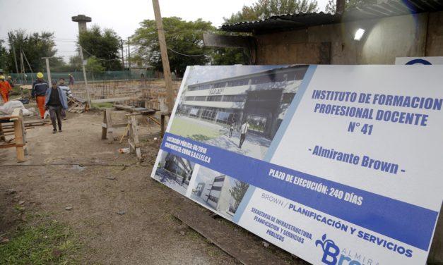 AVANZA LA CONSTRUCCION DEL EDIFICIO PARA EL INSTITUTUO DE FORMACION DOCENTE 41