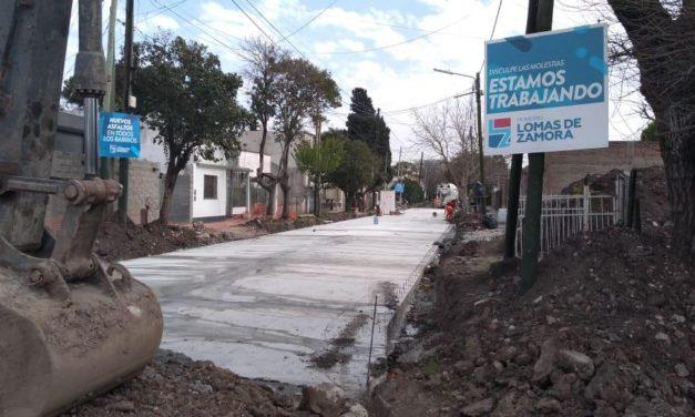 Sigue adelante el plan de pavimentación en hormigón en Lomas