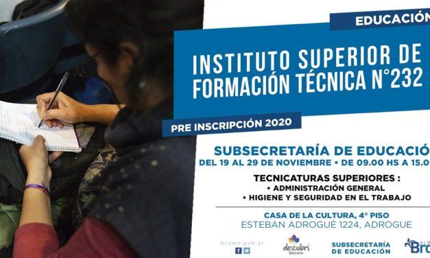BROWN YA TIENE SU PRIMER INSTITUTO DE FORMACION TECNICA