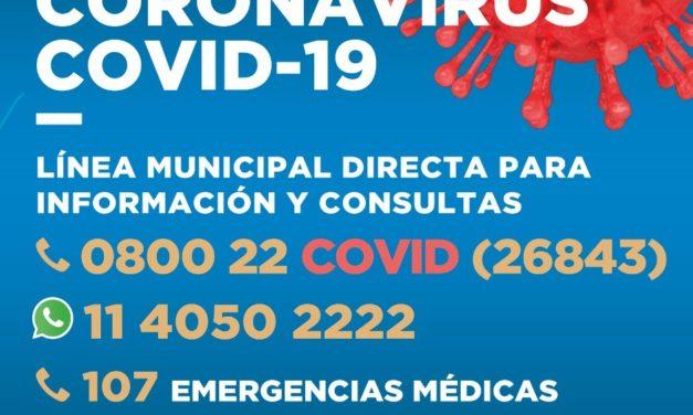 BROWN PUSO EN MARCHA LA LÍNEA TELEFÓNICA 0800 22 COVID