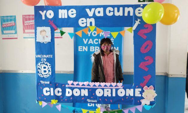 ARRANCÓ EN BROWN LA VACUNACIÓN A CHICOS DE 3 A 11 AÑOS